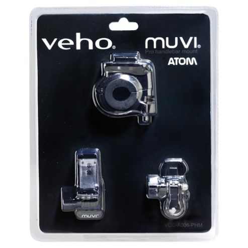 Veho Pro handlebar mount for Muvi Atom with accessories
