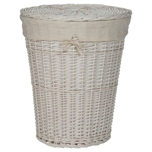 buy tesco wicker laundry basket white from our laundry bins baskets range. Black Bedroom Furniture Sets. Home Design Ideas