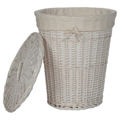 Buy tesco wicker laundry basket white from our laundry White wicker washing basket