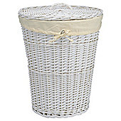 Tesco Wicker Laundry Basket White