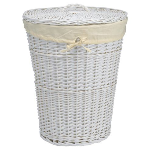 Tesco Wicker Laundry Basket - White