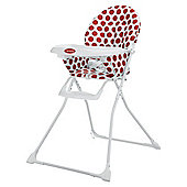Obaby Munchy Highchair - Dotty Red