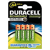 Duracell 4 Pack Rechargeable AA Batteries