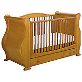 Tutti Bambini Louis Fix Side Sleigh Marie Cot Bed, Natural