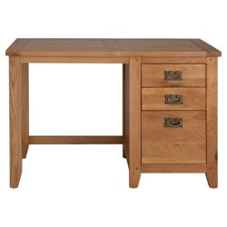 Ascot 2 Drawers Desk, Oak