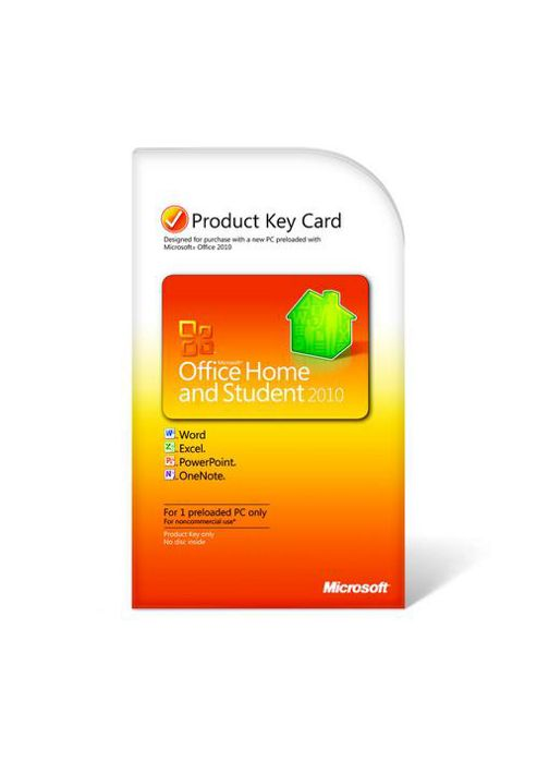 Microsoft Office Home and Student 2010 Product Key Card