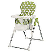 Obaby Nanofold Highchair, Dotty Lime