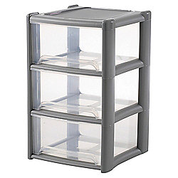 Wham Storage Tower - 3 Drawers - Grey