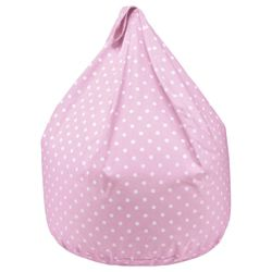 Kids Cotton Polka Dot Beanbag, Pink