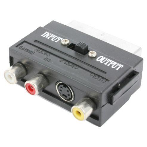 Tesco Scart Adaptor connect audio/video devices to TV through SCART