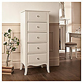 Lille 5 Drawer Chest, Ivory