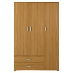 Fresno Triple Wardrobe, Oak-Effect