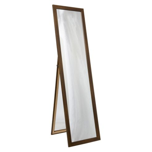 Basic Cheval Mirror - Dark Wood Effect