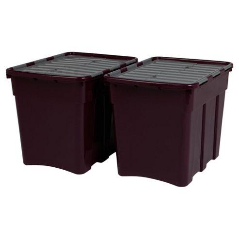 Whatmore 80L Croc Box, 2 Pack Purple And Grey
