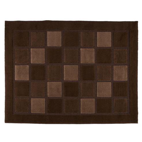 Tesco Rugs Squares Rug 120X170cm Choc