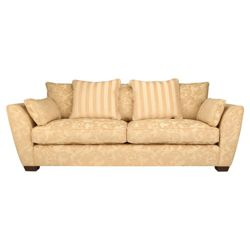 Harrogate large fabric sofa, wheat