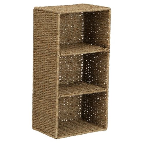 Tesco Seagrass 3 Shelf Unit