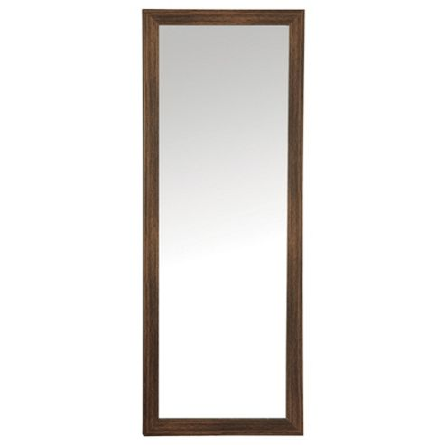 Basic Mirror - Dark Wood Effect 97x37cm