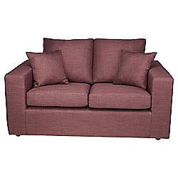 Maison Small 2 seater  Fabric Sofa Aubergine