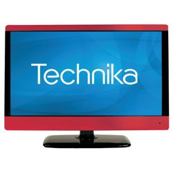 Technika 23-231BR 23 inch Widescreen HD Ready 1080p LCD TV DVD Combi and USB Player with Freeview-Red