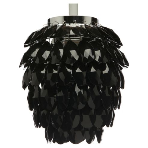 Tesco Lighting Glass Pineapple Pendant Black