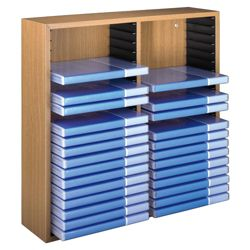 Hama Wooden Rack for 40 DVD Cases