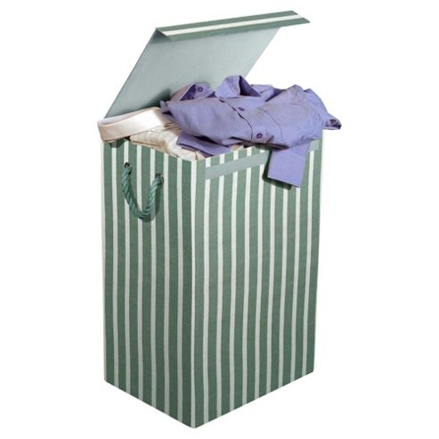 Minky Fabric Laundry Bin, Stripes