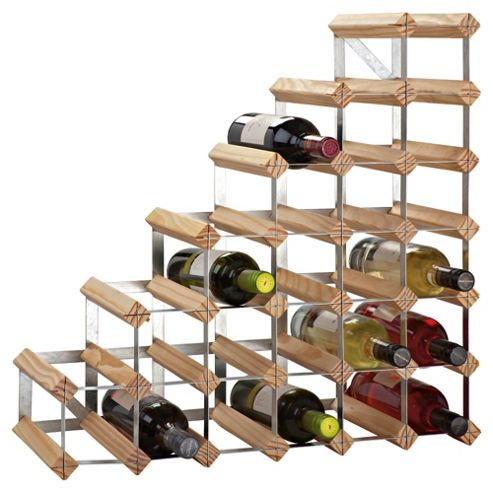 George Wilkinson 27 Bottle Understairs Wine rack - Pine / Galvanised Steel