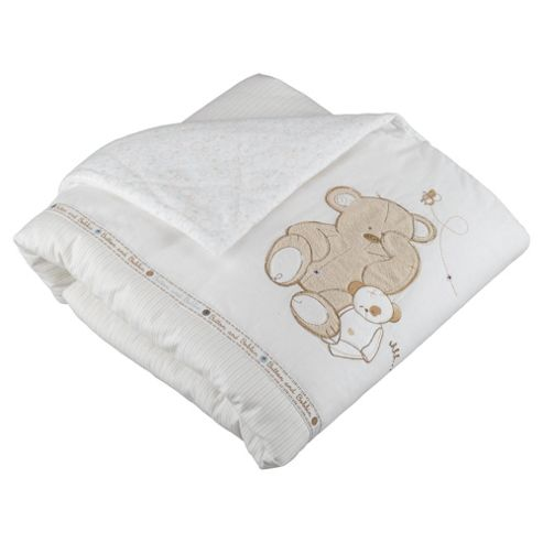 East Coast Button With Bobbin Cot Bed Quilt