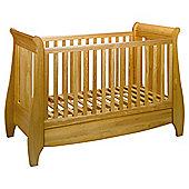 Tutti Bambini Lucas Dropside Sleigh Cot Bed, Oak