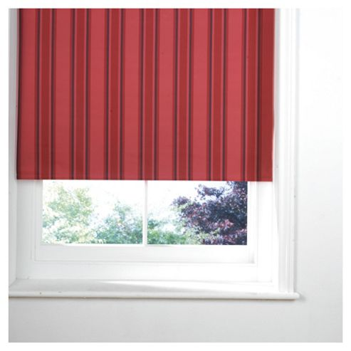 Stripe Blackout Roller Blind 180X160Cm Red