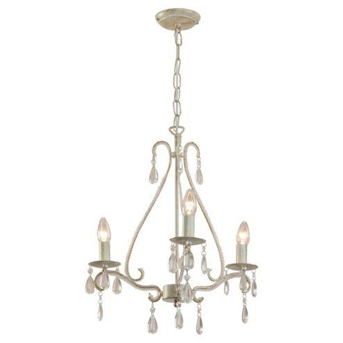 Buy Tesco Lighting Beaded arm chandelier distressed cream