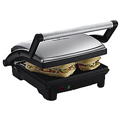 Russell Hobbs Y10 3 in 1 Panini Grill and Griddle, Black and Silver