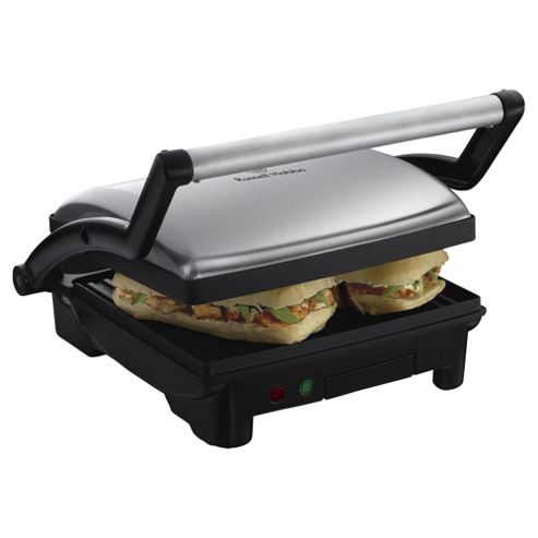 Russell Hobbs 3-in-1 Panini Maker/Grill and Griddle - Black & Silver