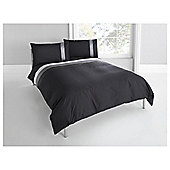 Tesco Nanza Duvet Set Single, Black