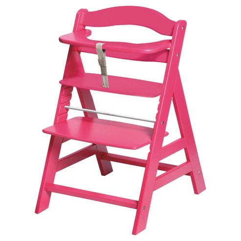 Hauck Alpha Wooden Highchair, Pink