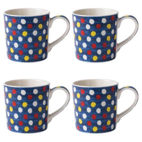 Johnson Brothers Set of 4 Spot Mugs