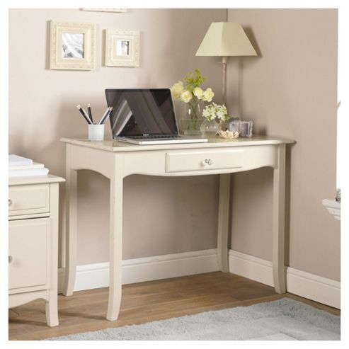 Lille Single Drawer Desk, Ivory