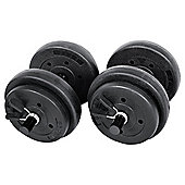 One Body 15kg Vinyl Dumbbell Set