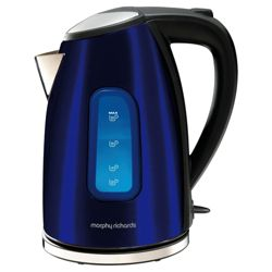 Morphy Richards 1.6L  Blue Accents New 1.6L Kettle
