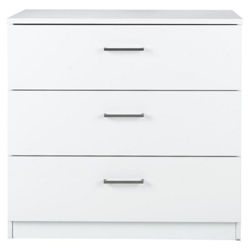 Lisken 3 Drawer Chest White Gloss
