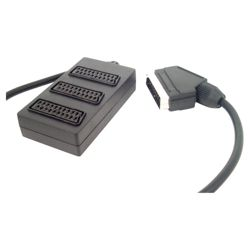 Tesco Scart Splitter 3-Way - Black