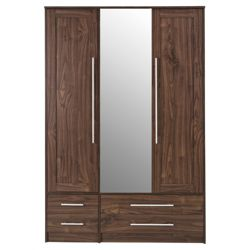 Kendal Triple Wardrobe, Walnut-Effect