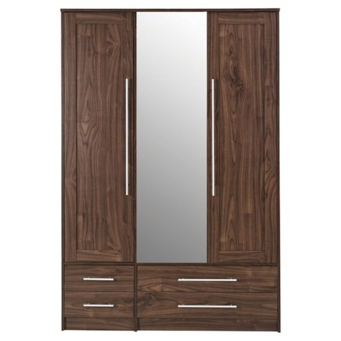 Kendal Triple Wardrobe Walnut Effect