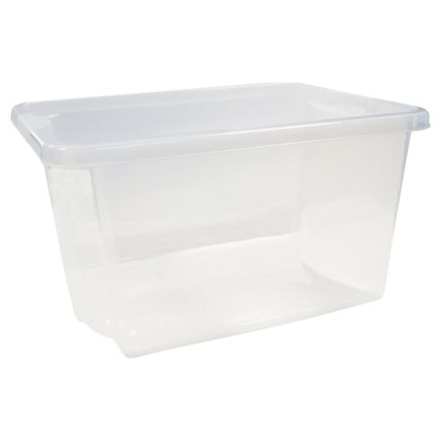 Whatmore 30L Stack & Store Crate, Clear
