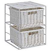 Tesco Wicker 2-Drawer Unit