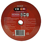 Tesco 700MB CD-R - pack of 10