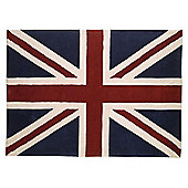 Tesco Rugs Union Jack Rug 150X240cm Red / Blue