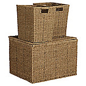 Tesco Seagrass Set Of 3 Trunks