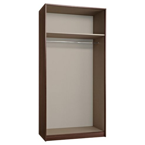 Modular Double Wardrobe Frame, Walnut-Effect